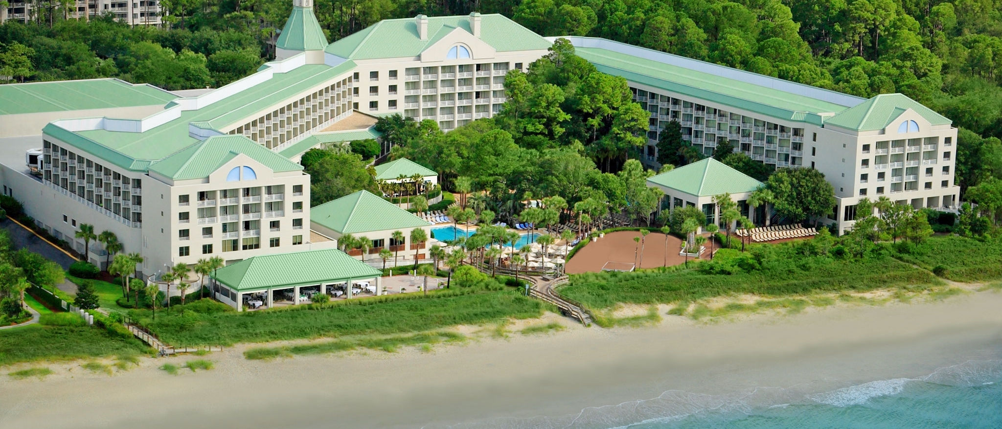 The Westin Hilton Head Island Resort & Spa - Aerial from Ocean